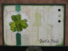3D Shamrock Card - Just for Fun Rubber STamps