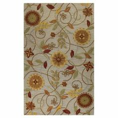 Hand-tufted wool rug with floral motif.  Product: RugConstruction Material: 100% WoolColor: TaupeFeatures: Hand-tuftedNote: Please be aware that actual colors may vary from those shown on your screen. Accent rugs may also not show the entire pattern that the corresponding area rugs have.Cleaning and Care: Regular vacuuming and spot cleaning recommended