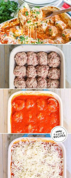 HUSBAND'S FAVORITE recipe! This is the BEST EASY Dinner!  These Baked Meatballs Parmesan are quick to make for a busy weeknight using ground beef and ground pork. Smothered in marinara and cheese, these homemade meatballs are not only delicious but also gluten free, low carb, and perfect for the keto diet. You can serve them with pasta, or a healthy low carb option like zoodles or spaghetti squash. #easyrecipe #dinner #lowcarb #keto #celiac #glutenfree #recipe #groundbeef