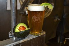 AVOCADO BEER, the crazy redheaded brewer at Angel City's come up with exactly that and's launching it at a mini-festival this Saturday with (avocado-based!) foods and (non-avocado-based! Avocado Drink, Los Millennials, National Beer Day, Bacon, Homemade Beer, California Love, Southern California, How To Make Beer, Beer Brewing