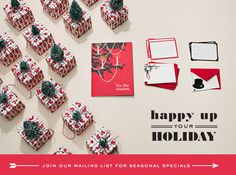 Happy up your holiday with some holiday cards from Snow & Graham!