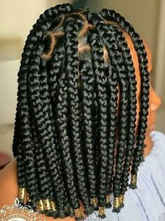 the most beautiful African braids 2020 It's almost the new year. It's time - the most beautiful African braids 2020 It's almost the new year. Bob Box Braids Styles, Box Braids Hairstyles For Black Women, Braids Hairstyles Pictures, Twist Braid Hairstyles, Box Braids Styling, Bandana Hairstyles, African Braids Hairstyles, Braids For Black Hair, Hair Styles
