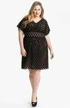Beautiful black dress and it fits perfect for the curvy woman