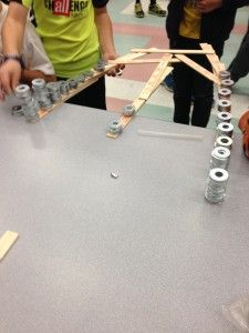 This could get messy! Students are told before they start that the materials (washers) cost 25 cents a piece. They must have the least expensive, most structurally sound (without falling) bridge in order to win. This is great for problem-solving, team-building, critical thinking, and math.