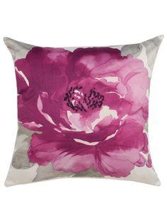 Watercolour floral cushion