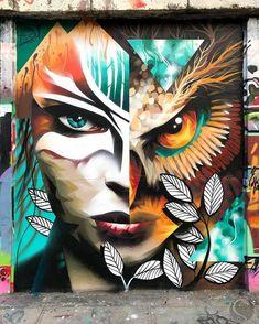 Martynas Šnioka in Vilnius, Lithuania, 2017 Urban Street Art, 3d Street Art, Amazing Street Art, Street Artists, Graffiti Wall Art, Mural Art, Murals Street Art, Street Art Graffiti, Pop Art