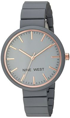 a85fe0ba398 Nine West Womens Quartz Metal and Alloy Dress Watch ColorGrey Model  NW2012GYRG -- Be sure