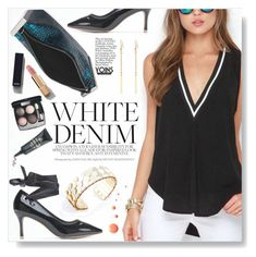 """White Denim - Yoins"" by yexyka ❤ liked on Polyvore featuring Chanel, Borghese and Soo Lee"