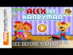 Alex The Handyman - Kids Educational App by Curious Fingers [ages:3+, iPad, iPhone]
