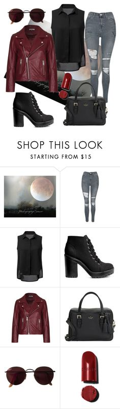 """""""Rock it."""" by just-lea on Polyvore featuring Topshop, H&M, Ganni, Kate Spade, Ray-Ban, women and 2016"""
