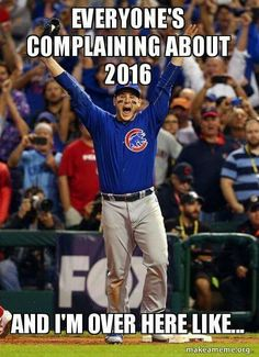 sigh...we in Chicago were SO HIGH after the Cubs win...and then the election happened...