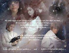 Padme's wish......  Padme,Anakin,Lea and Luke Skywalker-Star Wars