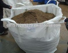 Two Layers Jumbo Bag For Soil Sand And Chemical Powder Polypropylene Bags 1000kg