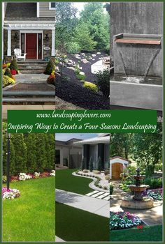 Landscaping plays an absolutely critical role in influencing the look and feel of your family's home. There is nothing more impressive than a home with fantastic landscaping. You can learn the best ways to landscape your home by carefully reading this article.  >>> Read more at the image link. Landscaping Around House, Four Seasons, Plays, Improve Yourself, Image Link, Backyard, Landscape, Reading, Games