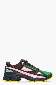 Raf Simons Green Mesh Adidas Edition Sneakers for men | SSENSE