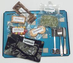 Food tray aboard space shuttle.