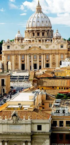 View of Rome cityscape, Basilica of St. Peter, Italy | Amazing Photography Of Cities and Famous Landmarks From Around The World