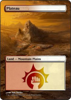Magic The Gathering Plateau Proxy
