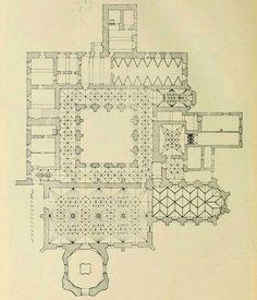 Plan of the Cloister ofBechyně, Czech Republic