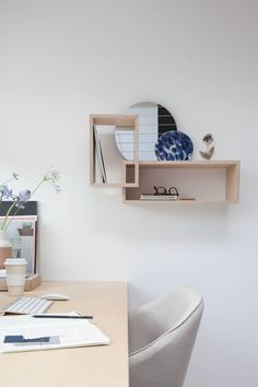 'Daily Gems' wall shelving for i the studio