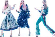 Anna Ewers & Sasha Pivovarova by Mikael Jansson for Vogue US February 2016 - Gucci Spring 2016