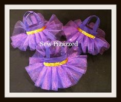 Rapunzel Tangled Party Favor Tutu Tote Bag by SewPizazzed on Etsy,