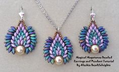 Magatama & Super-duos used together. discussion & Video link.   ~ Seed Bead Tutorials