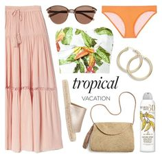 """Poppin' Papayas"" by twenty-7 ❤ liked on Polyvore featuring Isolda, Gap, Witchery, Mint Velvet, Mar y Sol, Australian Gold, Kisuii and TropicalVacation"