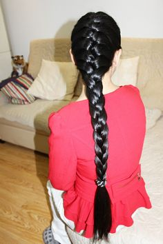 Indian Long Hair Braid, Long Hair Ponytail, Braids For Long Hair, French Braid Hairstyles, Ponytail Hairstyles, Pretty Hairstyles, Real Rapunzel, Girl Photography Poses, Shiny Hair