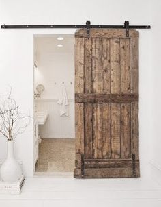 Old wood sliding door.