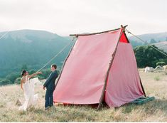 "A Festival Inspired Backyard Wedding where the couple created a ""tent"" city in their amazing backyard for guests! Big Sur Wedding, Camp Wedding, Tent Wedding, Wedding Backdrops, Tent Set Up, Sitting In A Tree, Festival Wedding, Wedding Trends, Wedding Ideas"
