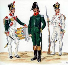 Regiment of line infantry, drummer, junior officer, fusilier Kingdom Of Naples, Kingdom Of Italy, Disco Fashion, Italian Army, French Empire, Military Uniforms, Napoleonic Wars, Troops, History