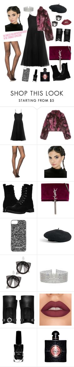 """""""Untitled #77"""" by haylee0110 on Polyvore featuring Charli, Victoria, Victoria Beckham, Pologeorgis, Pretty Polly, Frye, Yves Saint Laurent, Skinnydip, Venus, Fallon and Steve Madden"""