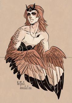 male Harpy by CrystalCurtis.deviantart.com on @deviantART