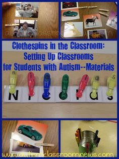 Clothespins in the Classroom:{FREEBIE }Setting up Classrooms for Students with Autism-Materials
