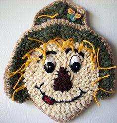 Crochet Scarecrow,  wall decor, by Jerre Lollman