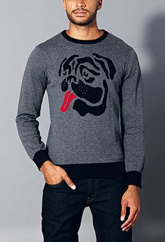 Bulldog Sweater | 21 MEN - 2000074304