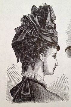 1898 HAIRSTYLES | ... and Costumes From Harper's Bazar: 1867-1898 | Yesterday's Thimble
