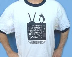 Monty Python - Penguin On The Tele T-Shirt (XL Only)