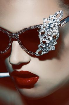 jeweled sunnies. More Ray Bans, Shades, Style, Red Lips, Oakley Sunglasses, Rayban Sunglasses, Ray Ban Sunglasses, Ray Ban Outlet, Bling Bling www.CheapDealHub.com 2015 luxury fashion sunglasses outlet, Oakley sunglasses, rayban sunglasses sale UP TO 90% OFF Red lips cool shades like these ones: https://cianmode.com/post/33513013579/we-want-to-be-seen-queremos-ser-vistos -Get Free Ray Ban Sunglasses For Gift Now.
