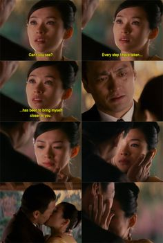 Memoirs of a Geisha. and this is the moment I bursted into a TRILLION TEARS <3
