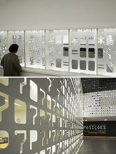 Intricate Museum Wall Has Stenciled Skin - My Modern Metropolis