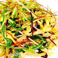 胡麻油とお醤油ベースのサラダです(^.^) - 30件のもぐもぐ - ヒジキとキャベツと水菜サラダ! by tinatomo