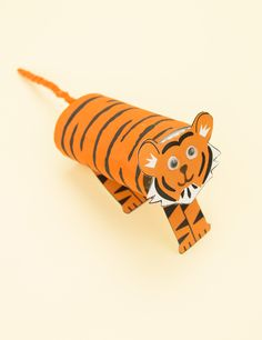 This Cardboard Tube Tiger Craft is ideal for your Chinese New Year art and craft lessons!