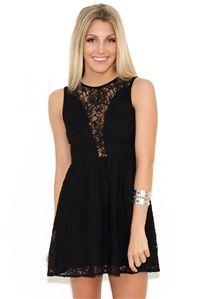 For Love & Lemons Lulu Dress in Black