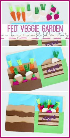 DIY and Crafts: Felt Veggie Garden (File Folder Activity) - Sugar ...