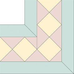 Diamond Star Squares Quilt Border Pattern