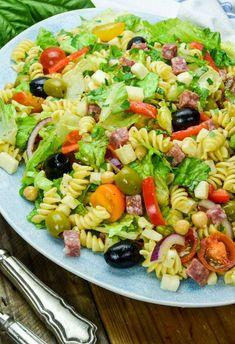Antipasto Salad on a platter