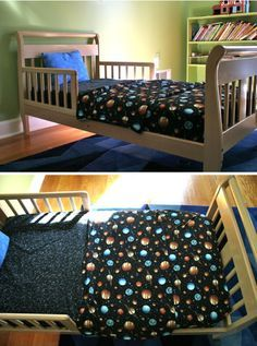 FINALLY. A pattern for both a fitted crib/toddler bed sheet and then a fitted top sheet for toddler!!!