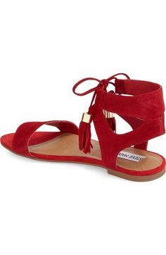 3e444095eb7d1a fun red sandals! Shoes Flats Sandals